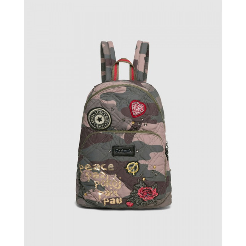 Mochila Lima Military Parches estampada